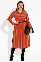 Женское осеннее из вискозы красное нарядное платье Панда 22380z терракотовый 44р.