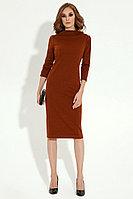 Женское осеннее трикотажное красное нарядное платье Панда 22780z терракотовый 42р.