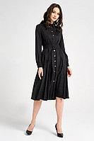 Женское осеннее трикотажное серое нарядное платье Панда 23480z графит 42р.