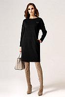 Женское осеннее трикотажное черное нарядное платье Панда 24480z черный 42р.