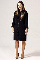 Женское осеннее черное нарядное большого размера платье Панда 31580z черный 50р.