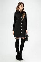 Женское осеннее черное нарядное платье Панда 31581z черный 42р.