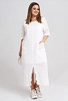 Женское летнее хлопковое белое большого размера платье Панда 34380z белый 48р.