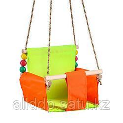 Подвесное кресло для игровой площадки с мягкой сидушкой и спинкой,сиденье 34х28 см