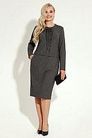 Женское осеннее трикотажное серое нарядное платье Панда 8180z серый 44р.