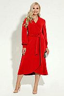 Женское осеннее красное нарядное платье Панда 8280z красный 46р.