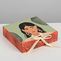 Коробка складная подарочная «Нежность», 20 × 18 × 5 см