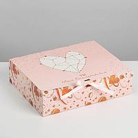 Коробка складная подарочная «С любовью», 31 × 24,5 × 9 см