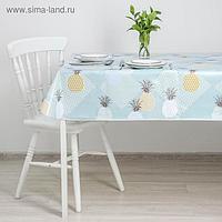 Скатерть на тканой основе с бейкой «Кармен», 135×110 см, ананасы