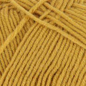 Пряжа 'Перспективная' 50 мериносовая шерсть, 50 акрил объёмный 270м/100гр (447-Горчица) - фото 1