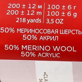Пряжа 'Мериносовая' 50меринос.шерсть, 50 акрил 200м/100гр (393-Св.моренго) - фото 8