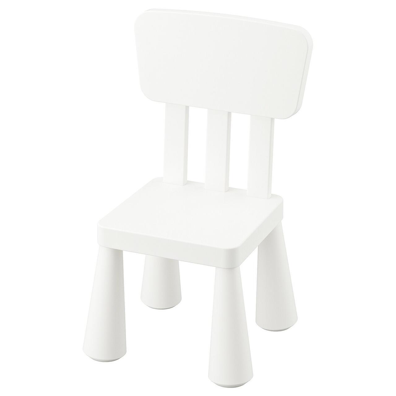 Детский стул MAMMUT Маммут, д/дома/улицы/белый