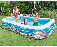 Надувной детский бассейн Рыбки ( 305х183х56 см)