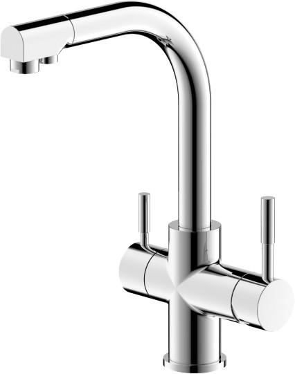 Смеситель для кухни BRAVAT Palace F729261CP-RUS с подключением к фильтру с питьевой водой