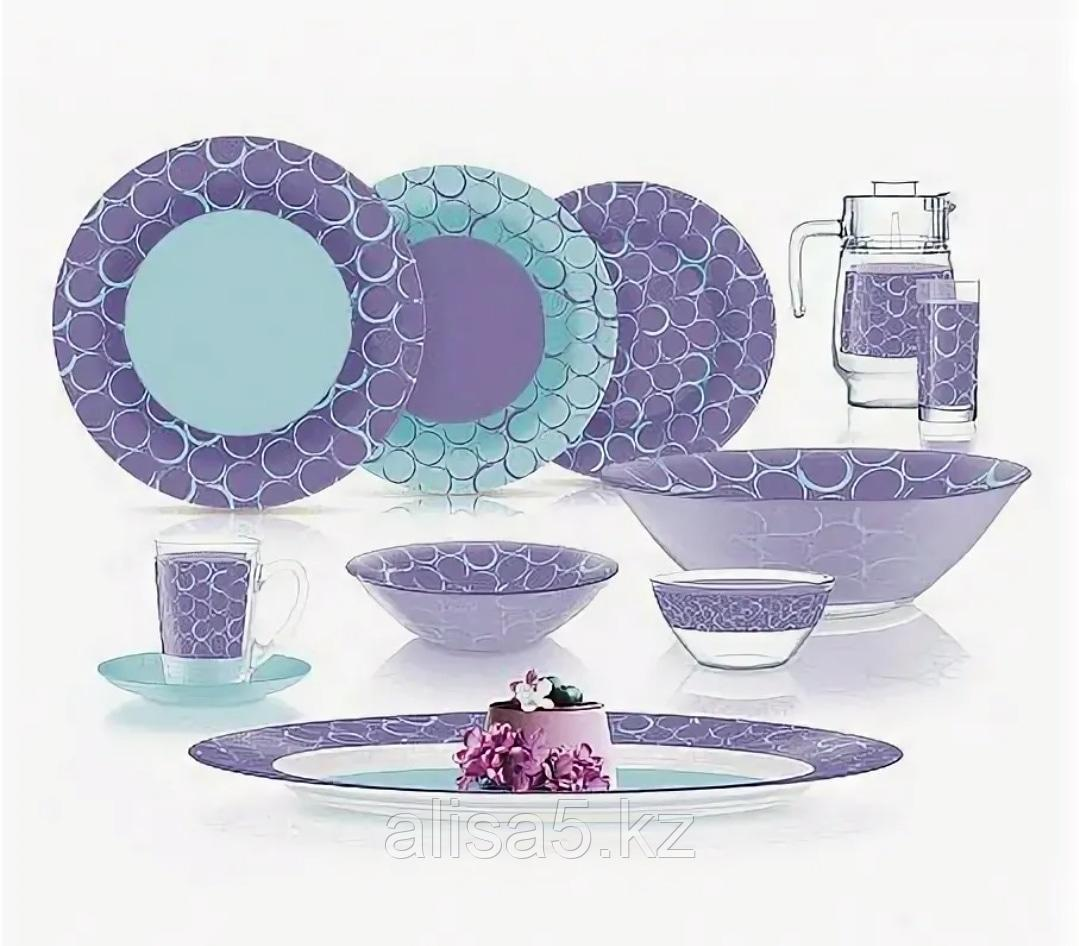 AMB SOFFICI PURPLE столовый сервиз на 6 персон из 52 предметов, шт
