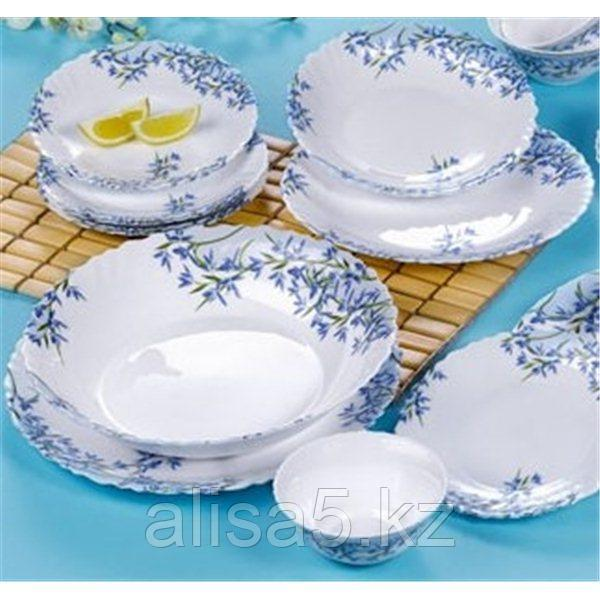 ARCOPAL ALIYA BLUE столовый сервиз на 6 персон из 46 предметов, шт