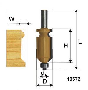 Фреза кромочная фигурная ф22,2х41мм хв 12мм