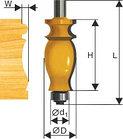 Фреза кромочная фигурная ф25,4х41мм хв 12мм, фото 2