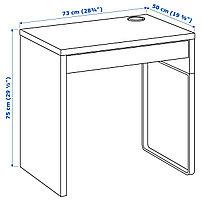 Письменный стол MICKE Микке, белый73x50 см, фото 4