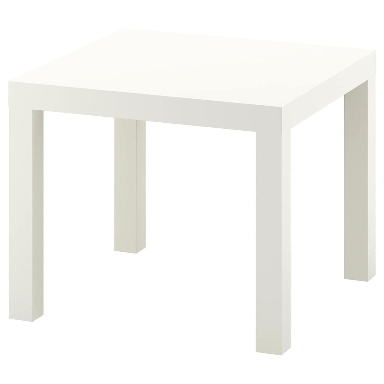 Придиваный столик LACK Лакк, белый 55x55 см