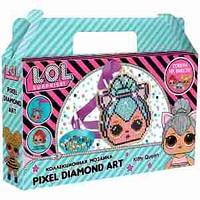 "Аппликация-магнит из алмазной мозаики LOL surprise ""Kitty Queen"", 9,11*10,96см"