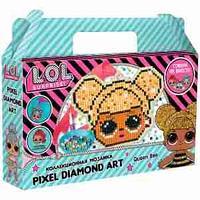 "Аппликация-магнит из алмазной мозаики LOL surprise ""Queen Bee"", 11,12*8,61см"