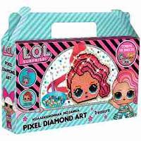 """Аппликация-магнит из алмазной мозаики LOL surprise """"Treasure"""", 10,61*10,95 см"""