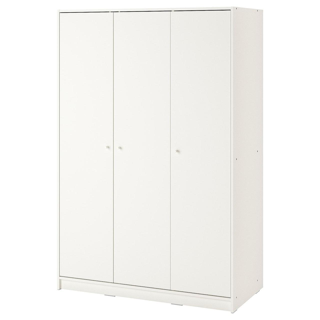 Гардероб 3-дверный KLEPPSTAD Клеппстад, белый117x176 см