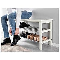Скамья с полкой для обуви TJUSIG Чусиг, белый 81x50 см, фото 4
