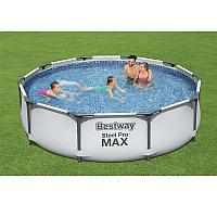 Каркасный бассейн круглый 305х76 см с фильтр-насосом, Bestway 56408