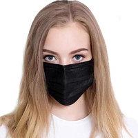 Черная 3-х слойная маска