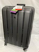 """Большой пластиковый дорожный чемодан на 4-х колесах"""" FAST STEP"""". Высота 75 см, ширина 52 см, глубина 31 см., фото 1"""