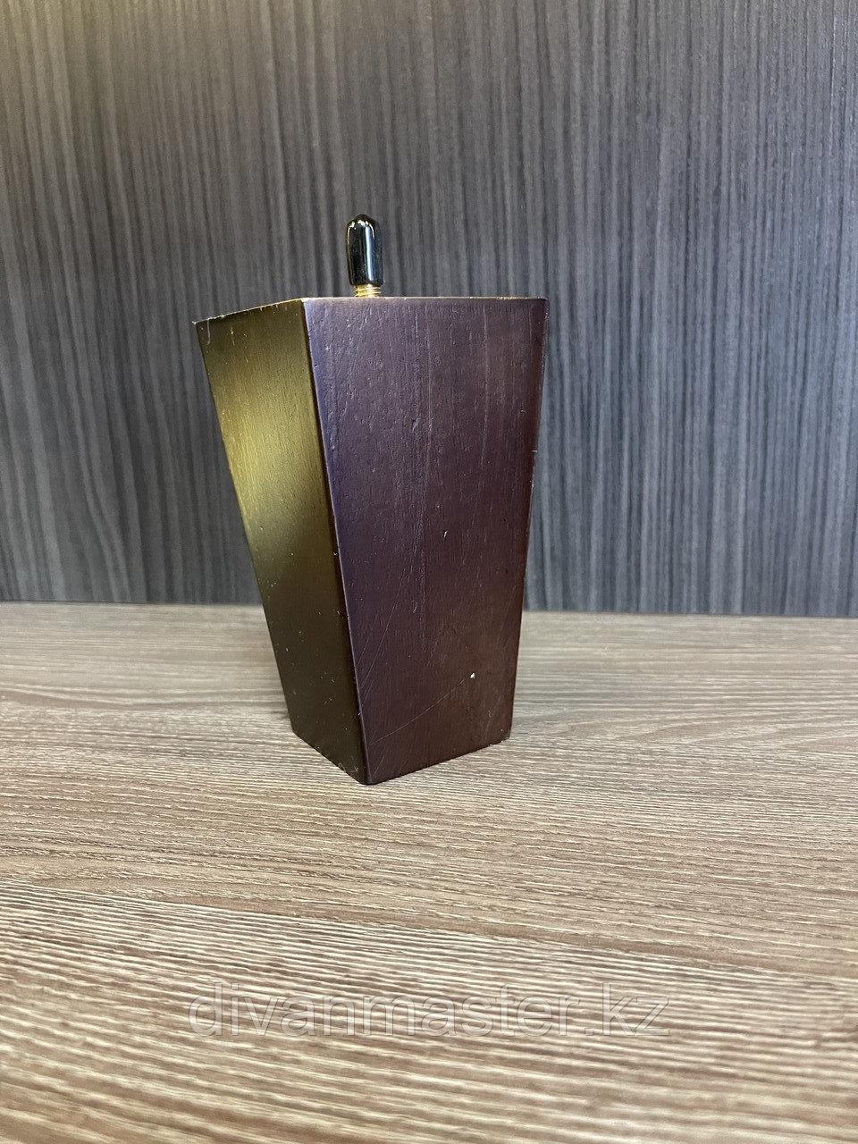 Ножка мебельная, деревянная, пирамида 12.5 cm