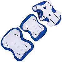 Комплект защиты для роликов Ridex Rocket Blue-white р-р L