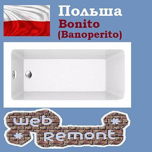 Акриловая ванна Banoperito Delia 180*80  (Ванна + ножки). Польша, фото 2