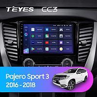 Магнитола Teyes на Андроиде для Mitsubishi Pajero Sport 3 2016-2018