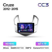 Магнитола Chevrolet Cruze J300 J308 2012-2015 Teyes CC3, 4+64G