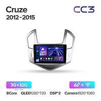 Магнитола Chevrolet Cruze J300 J308 2012-2015 Teyes CC3, 3+32G
