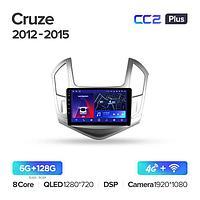 Магнитола Chevrolet Cruze J300 J308 2012-2015 Teyes CC2 Plus, 6+128G