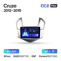 Магнитола Chevrolet Cruze J300 J308 2012-2015 Teyes CC2 Plus, 3+32G
