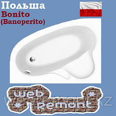 Акриловая ванна Banoperito MAYA 135*95  L  (Ванна + ножки)