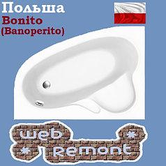 Акриловая ванна Banoperito MAYA 160*105  L (Ванна + ножки)