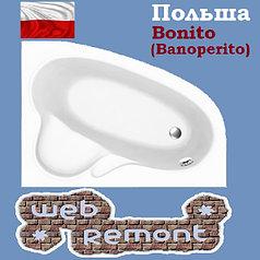Акриловая ванна Banoperito MAYA 160*105  R  (Ванна + ножки)