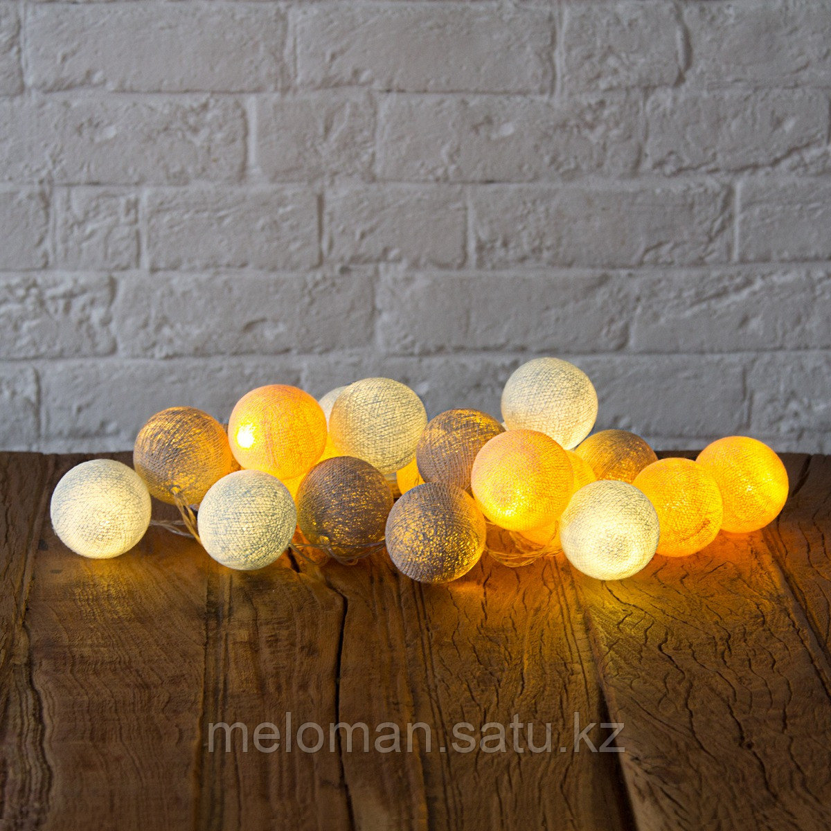Гирлянда декоративная Мила 20 шаров/сеть - фото 4