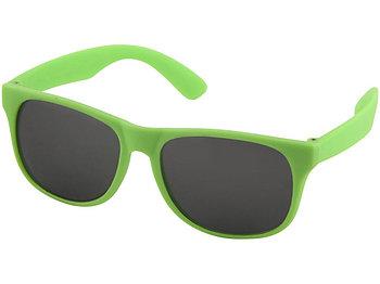 Солнцезащитные очки Retro - сплошные, неоново-зеленый