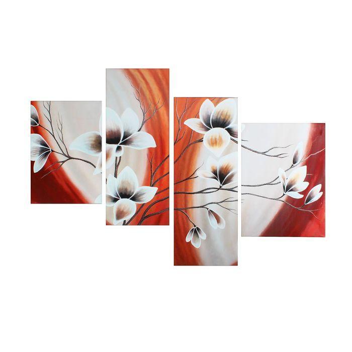 "Картина модульная на подрамнике  ""Цветы"" 40*50, 42*55, 30*80, 30*75;  145х80см  214"