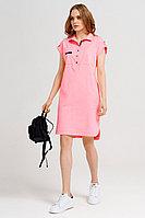 Женское летнее хлопковое розовое платье Панда 40280z розовый 42р.