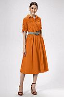 Женское летнее хлопковое оранжевое платье Панда 476080 терракотовый 42р.