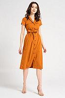 Женское летнее хлопковое оранжевое платье Панда 40080z терракотовый 44р.