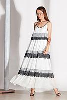 Женское летнее кружевное белое нарядное платье Noche mio 1.172 46р.